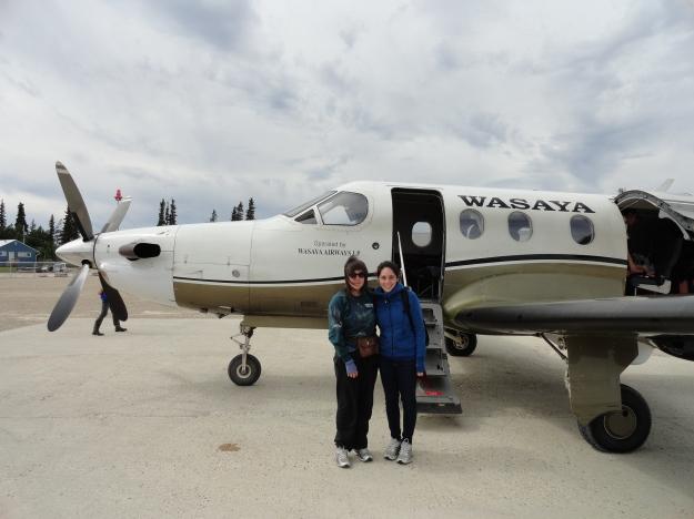 Midori and Nicole - Fort Albany Airport